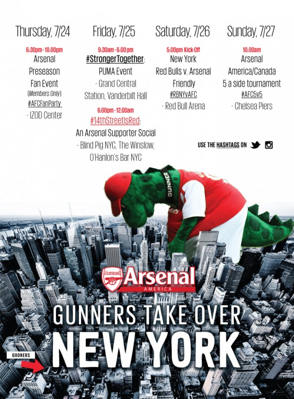 NYC gunnersaurus 600x814 Arsenals Connection With Soccer Fans in the United States; An Interview With Arsenal America