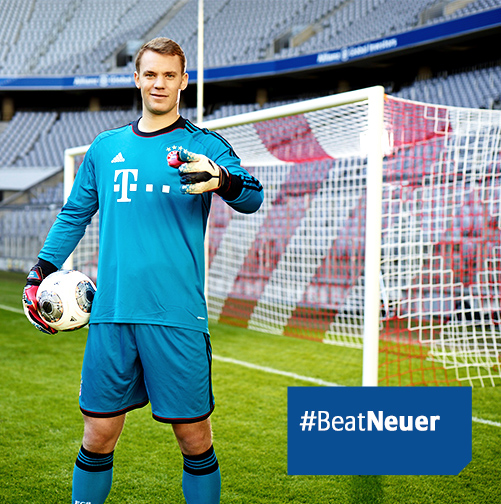 Neuer post Enter to Win a Chance to Take a Penalty Against Manuel Neuer