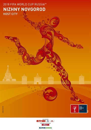 Nizhny Novgorod world cup poster Russia Unveils Official Posters For World Cup 2018 Host Cities [PHOTOS]