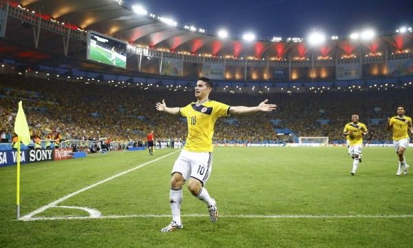 Rodriguez 600x360 Colombia vs Brazil Preview: Colombia Faces Toughest Test in World Cup