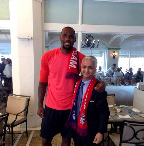 Screen Shot 2014 07 13 at 12.36.37 PM NBA Star LeBron James Pictured in Brazil for World Cup Final [PHOTO]