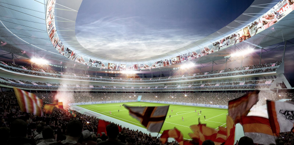 Screen Shot 2014 07 24 at 9.24.16 AM 600x296 AS Romas New Stadium Will Showcase Club Ambitions And Pay Tribute To Romes History