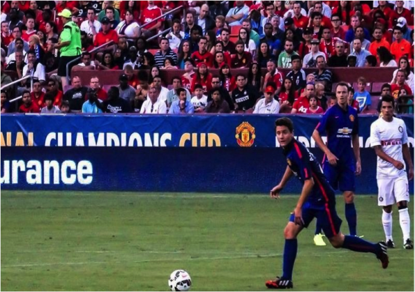 ander herrera 600x423 Manchester United vs Inter Milan, International Champions Cup In Maryland [PHOTOS]