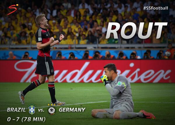 WATCH Germany In Seventh Heaven After Beautiful Andre Schurrle Goal Makes it 7-0 Against Brazil [VIDEO]