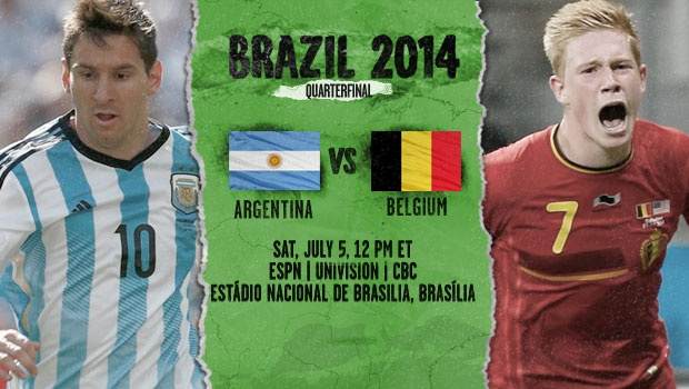 Argentina vs Belgium Starting Lineups, TV Times and World Cup Open Thread