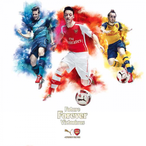 arsenal home away third shirts 600x600 Arsenal Home, Away and Third Shirts By Puma: Leaked [PHOTOS]