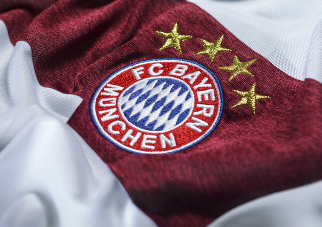 bayern munich away shirt crest Bayern Munich Unveils Away Shirt For 2014/15 Season: Official [PHOTOS]