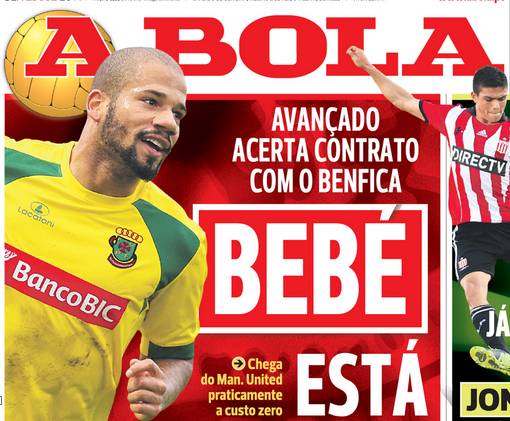 bebe Manchester United Winger Bebe On The Verge Of A Move To Benfica