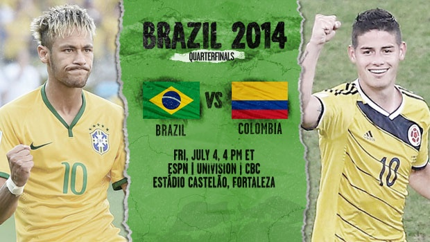 brazil colombia1 Brazil vs Colombia, Starting Lineups, TV Times and World Cup Open Thread
