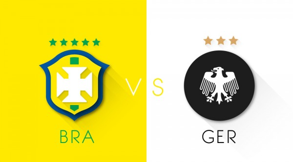 brazil germany1 600x333 Brazil vs Germany: Starting Lineups, TV Times And World Cup Open Thread