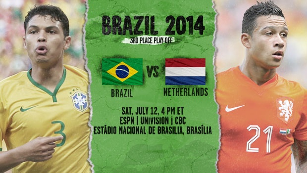 Brazil vs Netherlands, Third Place World Cup Game: Starting Lineups, TV Listings And Open Thread