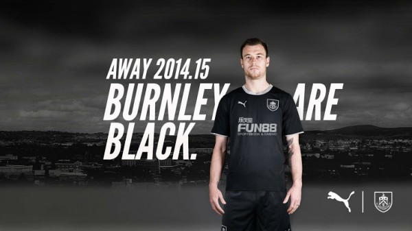 burnley away shirt promo 600x337 Burnley Home and Away Shirts for 2014/15 Season: Official [PHOTOS]