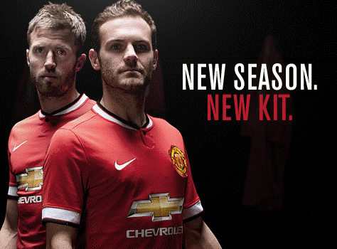 carrick mata Manchester United Release Home Shirt for 2014/15 Season: Official [PHOTOS]