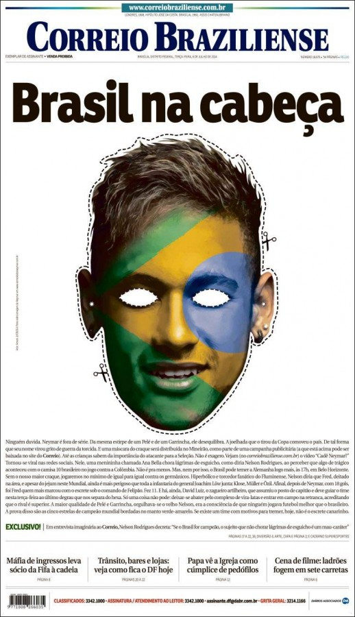 correio braziliense 518x900 Brazil Newspapers Infatuated With Neymar: Front Covers of Todays Papers [PHOTOS]