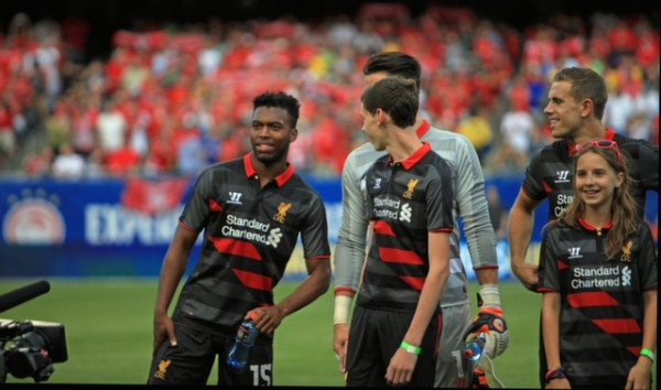 daniel sturridge liverpool 600x354 Liverpool vs Olympiacos, International Champions Cup Game in Chicago [PHOTOS]