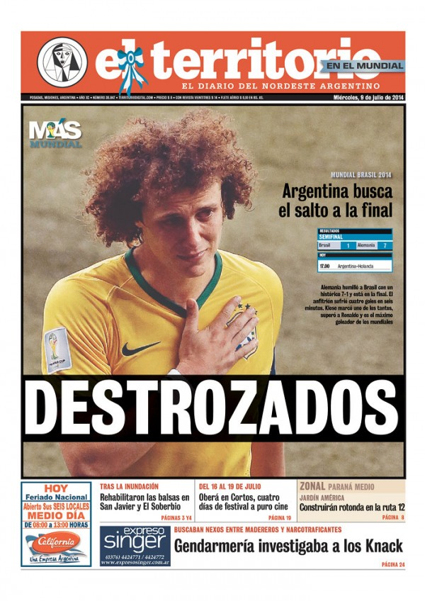 david luiz 600x848 5 Reasons Why Were Glad Brazil is Out of the World Cup