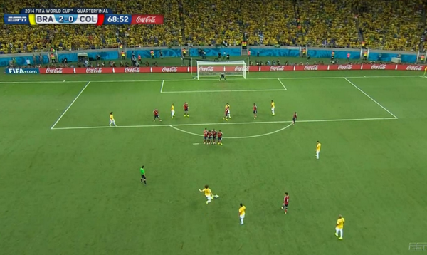 david luiz David Luiz Scores Sensational Goal Against Colombia [VIDEO]