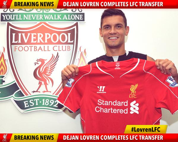 dejan lovren Official: Liverpool Confirms Dejan Lovren Signing from Southampton