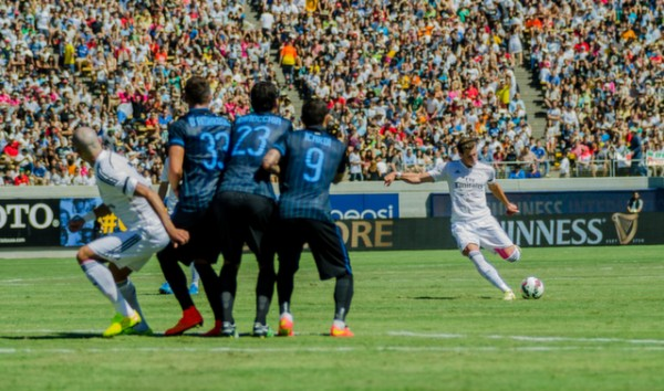 gareth bale 600x354 Real Madrid vs Inter Milan: International Champions Cup Game at Berkeley [PHOTOS]