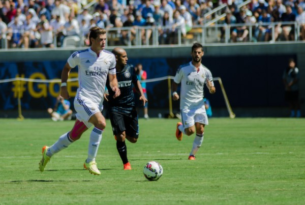 gareth bale real madrid 600x403 Real Madrid vs Inter Milan: International Champions Cup Game at Berkeley [PHOTOS]