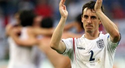 English defender Gary Neville  acknowled
