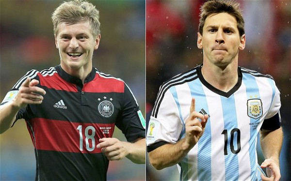germany argentina 600x374 Back Germany to win World Cup