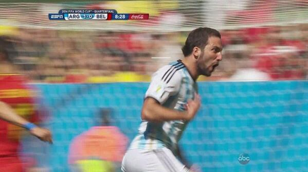 gonzalo higuain Argentina 1 0 Belgium Match Highlights [VIDEO]: Supporting Cast Finally Shine, But Albiceleste Still Lack Balance