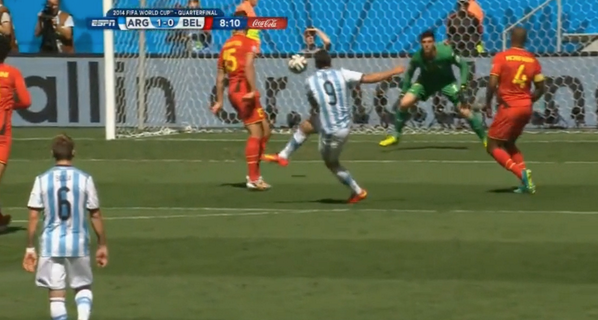 WATCH Gonzalo Higuain's Goal For Argentina vs Belgium in World Cup [VIDEO]