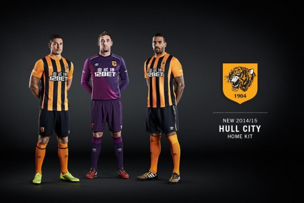 hull city home shirt promo 600x401 Hull City Home And Away Shirts For 2014/15 Season [PHOTOS]