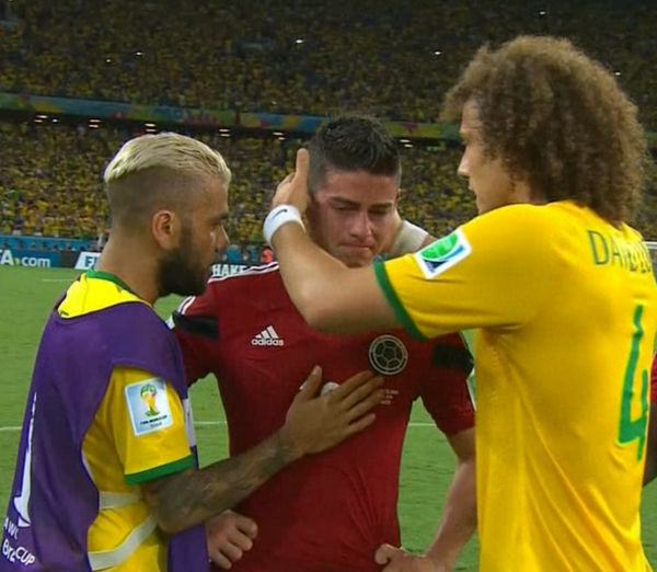 james rodriguez david luiz WATCH Brazil 2 1 Colombia: Match Highlights [VIDEO]
