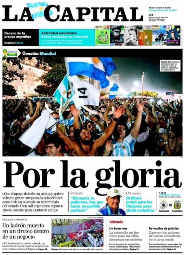 la capital 600x826 World Cup Final Featured On Newspaper Front Covers Around the World [PHOTOS]
