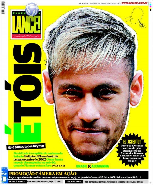 lance 600x725 Brazil Newspapers Infatuated With Neymar: Front Covers of Todays Papers [PHOTOS]
