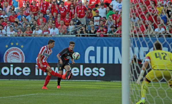 lo19 600x362 Liverpool vs Olympiacos, International Champions Cup Game in Chicago [PHOTOS]
