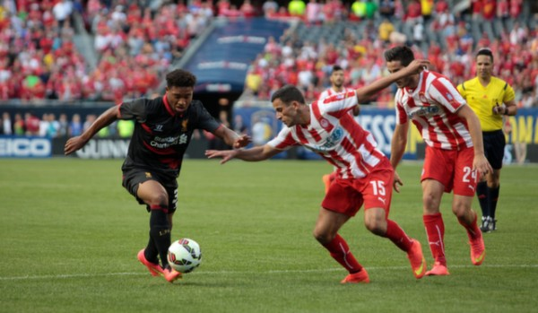 lo21 600x349 Liverpool vs Olympiacos, International Champions Cup Game in Chicago [PHOTOS]