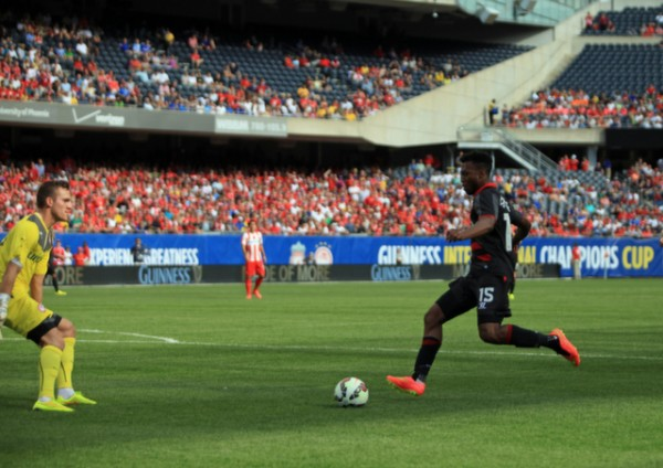 lo4 600x424 Liverpool vs Olympiacos, International Champions Cup Game in Chicago [PHOTOS]