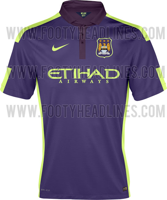 buy popular e014d 30c61 Manchester City Third Shirt For 2014/15 Season; Purple Haze ...