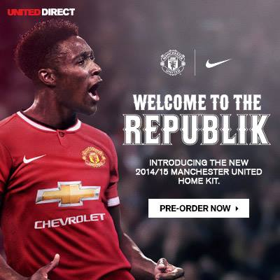 manchester united home shirt welbeck Manchester United Release Home Shirt for 2014/15 Season: Official [PHOTOS]