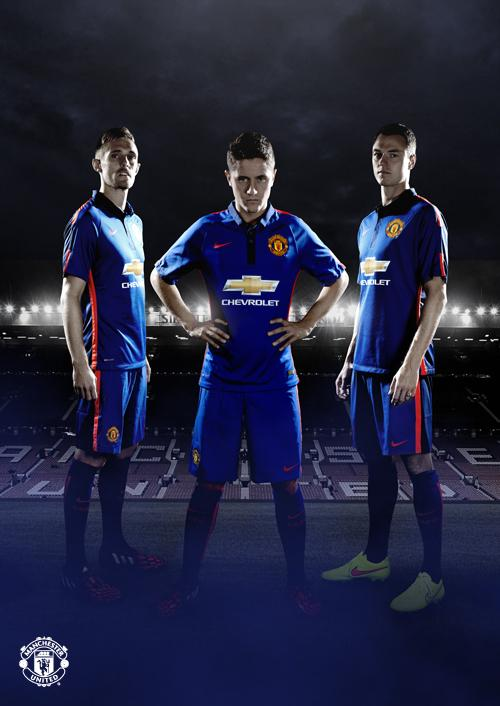 manchester united third shirt group Manchester United Unveil Third Shirt For 2014/15 Season: Official [PHOTOS]