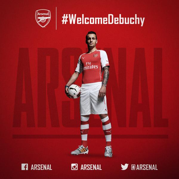 Arsenal Sign Defender Mathieu Debuchy In £10million Deal