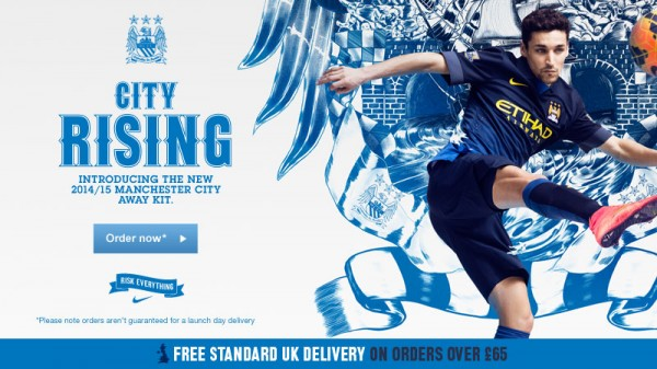 Manchester City Unveils Away Shirt for 2014/15 Season: Official [PHOTOS]
