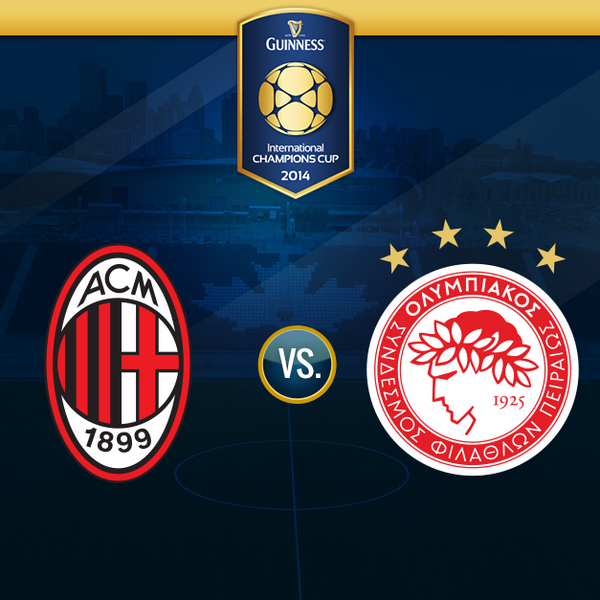 milan olympiacos AC Milan vs Olympiacos: Starting Lineups, TV Times and International Champions Cup Open Thread