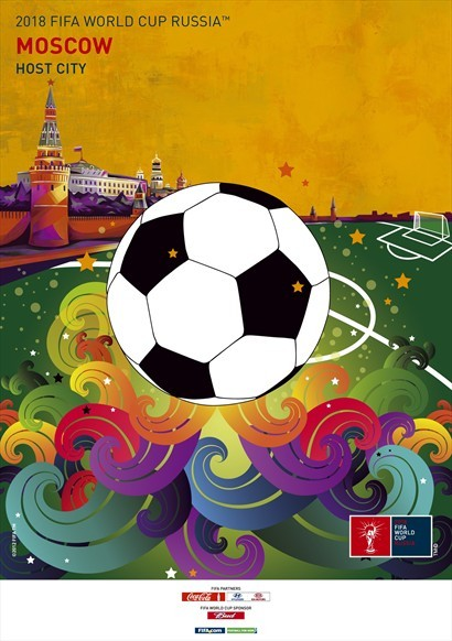 moscow world cup poster Russia Unveils Official Posters For World Cup 2018 Host Cities [PHOTOS]