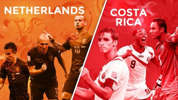 netherlands costa rica 600x337 Netherlands vs Costa Rica Starting Lineups, TV Times and World Cup Open Thread
