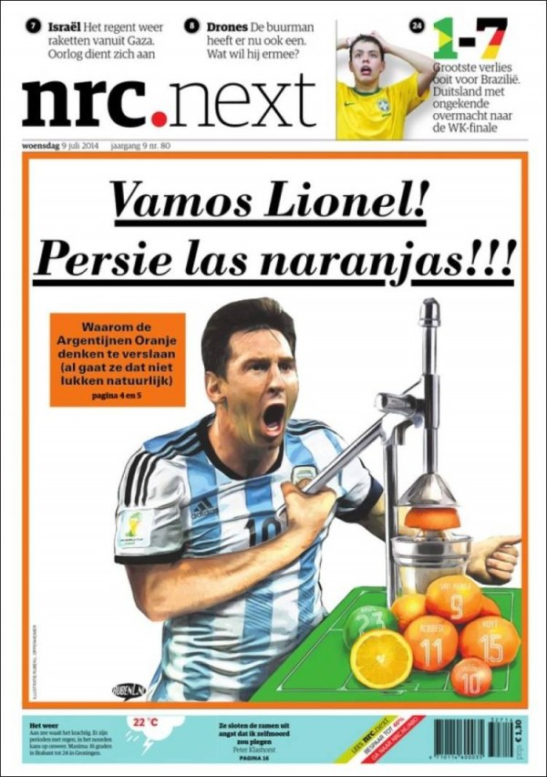 nrc 600x852 Front Covers of Newspapers From Argentina and Netherlands Ahead of World Cup Semifinal [PHOTOS]