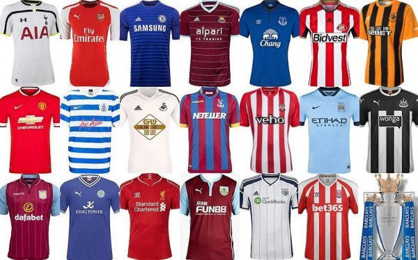 premier league kits 600x374 Most Instrumental Players at Each of the 20 Premier League Clubs