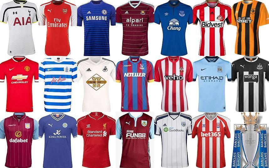 Best Worst Designs of Premier 2014/15 and the League Shirt