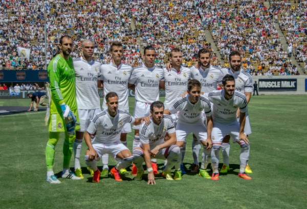 real madrid team 600x409 Real Madrid vs Inter Milan: International Champions Cup Game at Berkeley [PHOTOS]