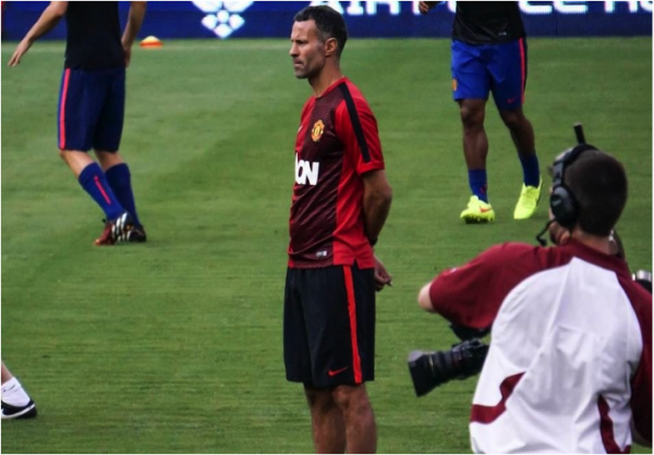 ryan giggs 600x418 Manchester United vs Inter Milan, International Champions Cup In Maryland [PHOTOS]