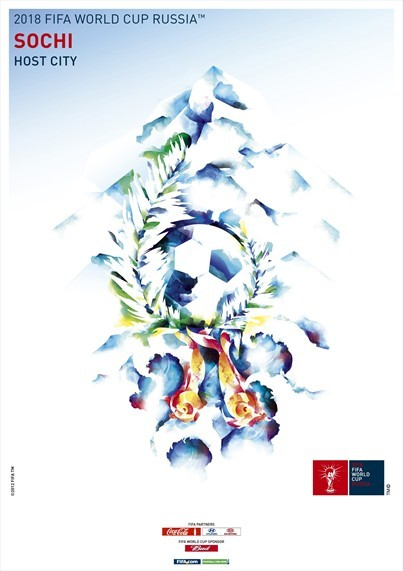 sochi world cup poster Russia Unveils Official Posters For World Cup 2018 Host Cities [PHOTOS]