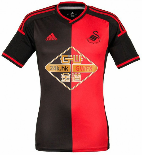 swansea away shirt 600x657 Swansea City Home and Away Shirts for 2014/15 Season: Official [PHOTOS]